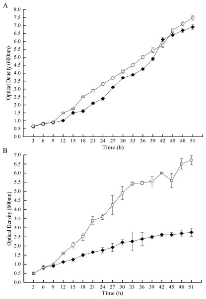 Effects of GOD induction on the growth of the P. pastoris GS115-His-GOD 01.