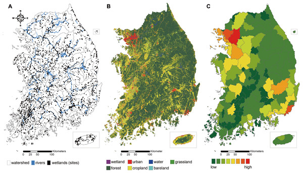 Study site and spatial pattern of land use characteristics of the extent of the study.