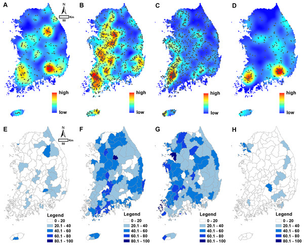 Spatial pattern of wetland condition rankings.