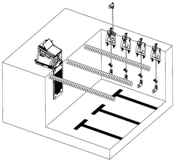 Overview of the camera set-up and instrumented starting block (Kistler Group, 2019).