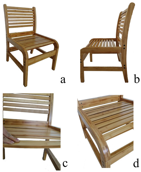 Structure of the novel bamboo sheet chair (A-D)