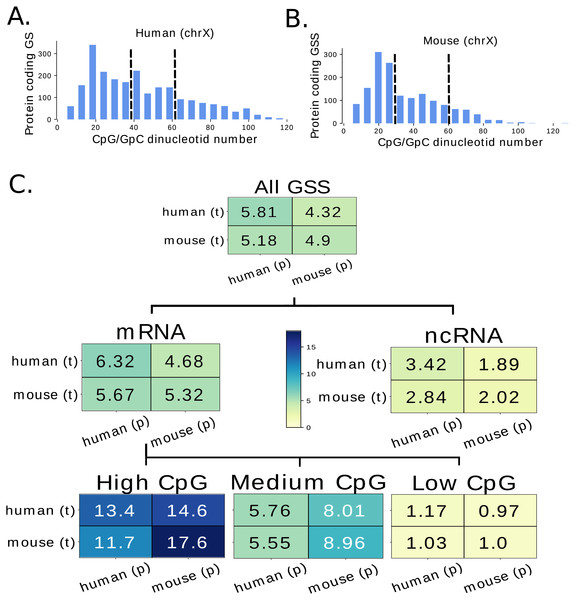 Evaluation of the model performance for different classes of genes.