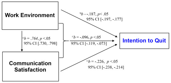 Summary of the relationships between study's variables.