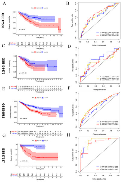 Vitamin D-related prognosis genes are significantly correlated with the overall survival of CRC in four testing sets.