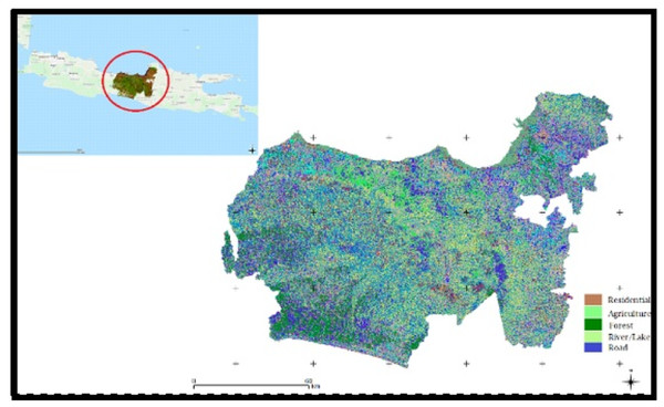 The land cover study area of Central Java Province of Indonesia.