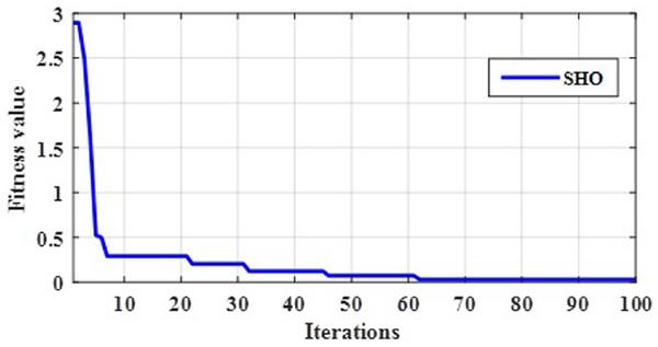 Convergence evaluation of SHO.