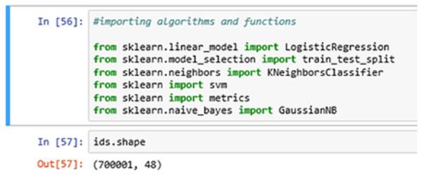Importing algorithms.