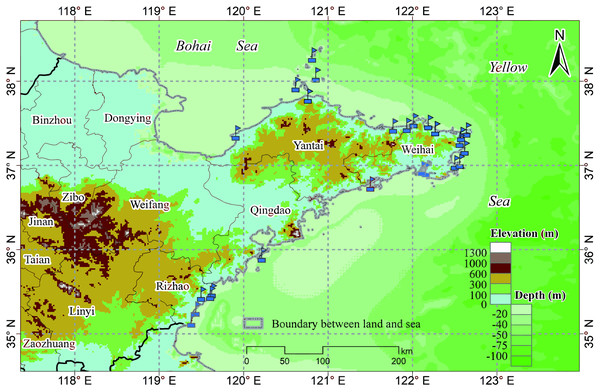 Marine ranch distribution map.