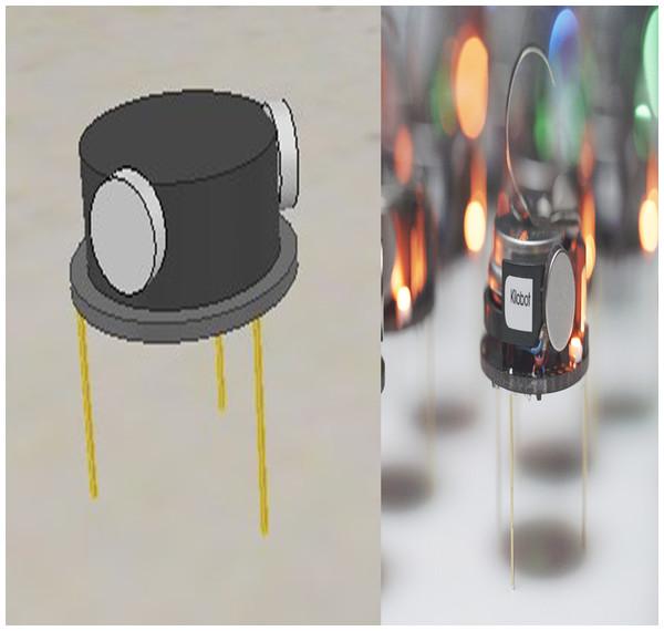 Both simulated and real Kilobot.