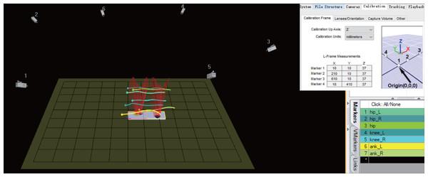 The human gait data collection scene.